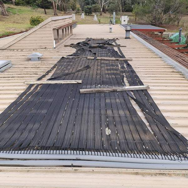 Pool Heating Repairs Before Photo